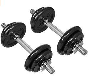 6. AmazonBasics 40-Pound Adjustable Weight Set