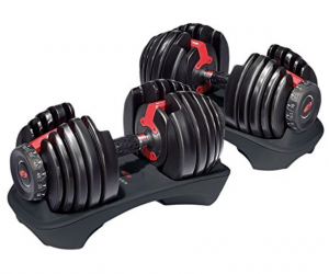 1. Bowflex SelectTech 552 Adjustable Dumbbells