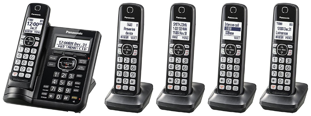 Panasonic KX-TGF545B Expandable Cordless Phone