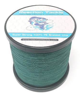 Reaction Tackle Abrasion Resistant Braided Fishing Line