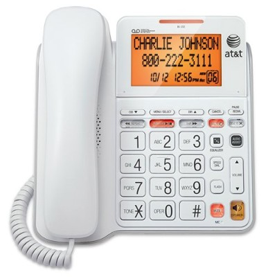 AT&T CL4940 Corded Phone with Answering Machine, White