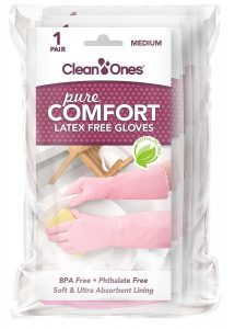 Clean Ones Pure Comfort Latex Vinyl GlovesMedium