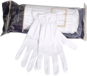 Beauty Care Wear Medium White Cotton Gloves for Eczema, Dry Skin & Moisturizing – 20 Gloves