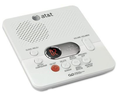 AT&T 1740 Digital Answering System, White