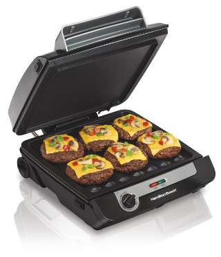 Hamilton Beach 3-in-1 MultiGrill Indoor Grill, Bacon Cooker, & Griddle & (25600)