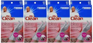 Mr. Clean Bliss Premium Latex-Free Gloves Medium 4 Pairs