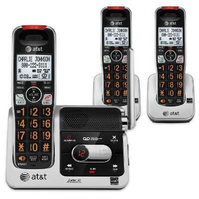 AT&T CRL82312 DECT 6.0 Phone Answering System, Black:Silver