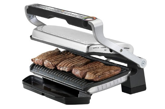 T-fal GC722D53 OptiGrill XL Stainless Steel Large Indoor Grill, 1800W, Silver