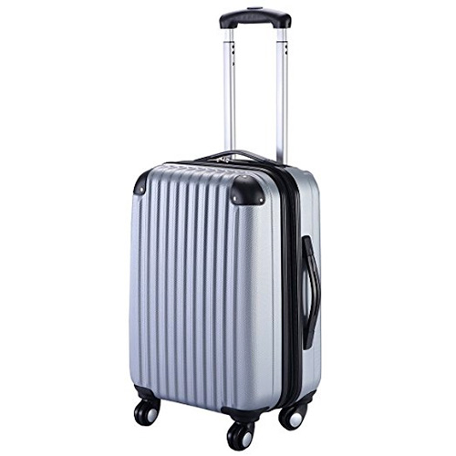 """Goplus GLOBALWAY 20"""" Expandable ABS Carry On Bag Trolley Suitcase"""