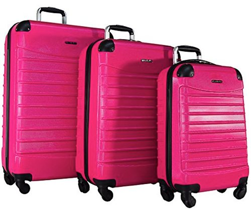 "Ciao Voyager 3-Piece Hardside Spinner Luggage Set: 28"", 24"", and 20"""