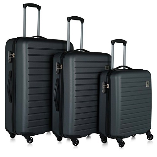 Revelation! Dominica 3-Piece Expandable Upright Hardside Spinner Luggage