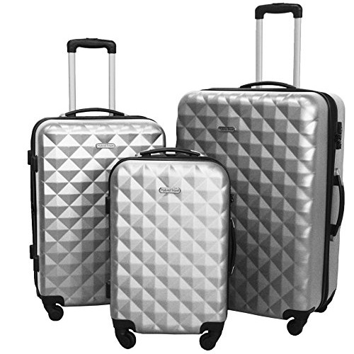 Hybrid Travel 3 Piece Luggage Hard Case Spinner Suitcase