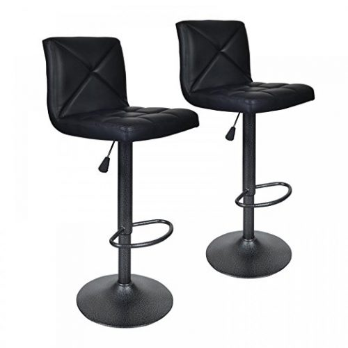 Bestoffice Black Modern Set of 2 Bar Stools