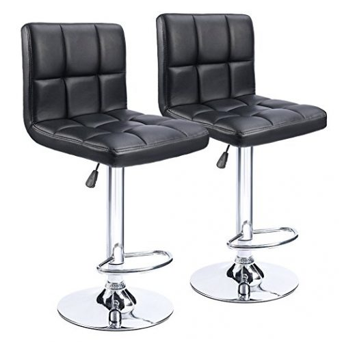Homall Modern PU swivel Adjustable Bar Stools