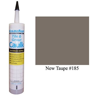 Color Fast Caulk Matched to Custom Building Products (New Taupe Sanded)