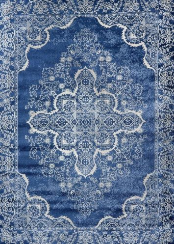 5529 Blue Oriental 5x7 Area Rug Carpet