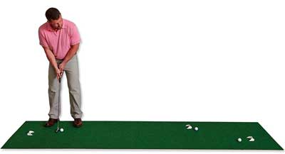 7. Putt-A-Bouts Golf Puttings Mat, 3 x 11-Feet, Green