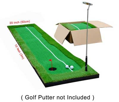 6. 77tech Golfs Putting Green mats System for Professional Practices and Green Long Challenging's for Putter Indoor and outdoors
