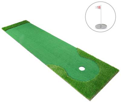 1. Indoor Golf Mats for Putting Green Systems and Professional Golf Practices and Mats Green Long Challenging's for Putter and a Golf Putting Mat