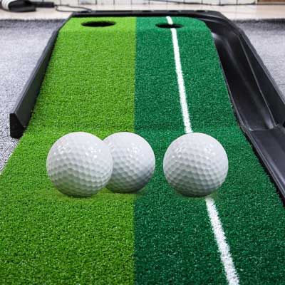 8. WINCANs Golf Putting Mats Green Indoor and Outdoor for Auto Balls Return Professionals and Portable Putting Trainers Set for Mini Training Aid.