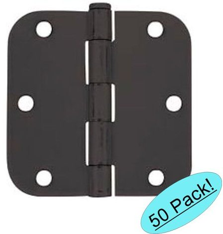 Cosmas Flat Black Door Hinge