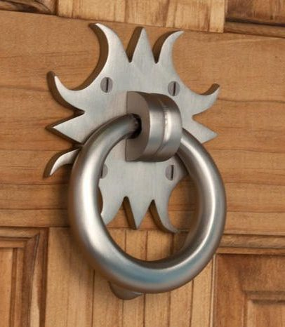Naiture Solid Brass Sun Shape Door