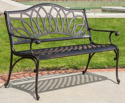 Velda Outdoor Cast Aluminum Bench