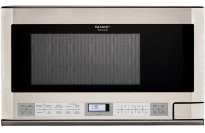 Sharp R-1214 1-1:2-Cubic Feet 1100-Watt Over-the-Counter Microwave