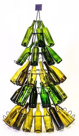 60 Bottle Christmas Tree Holiday