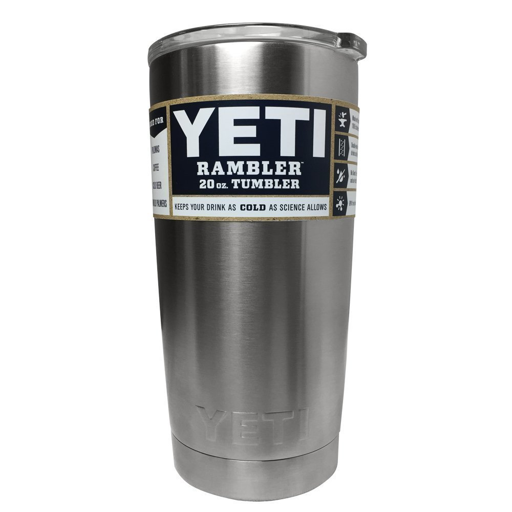 8. YETI 20 oz Stainless Steel Tumbler with Lid