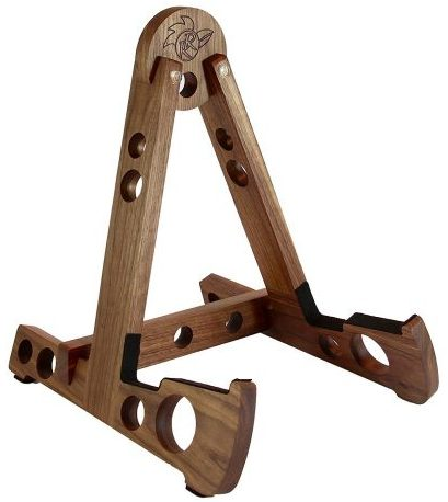 Red Rooster Walnut Guitar Stand