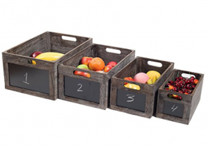 vintage style produce chalkboard front crates