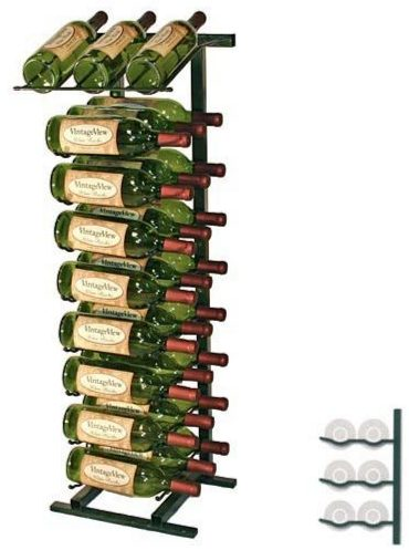 VintageView 27-Bottle Display Wine Rack