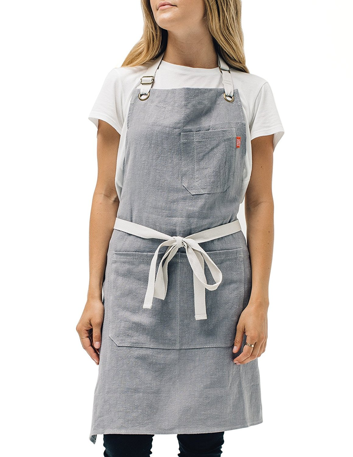 1. Linen Kitchen Apron by Abbot Fjord