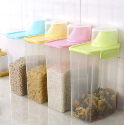 PISSION Pet Food Storage Container with Graduated Cup and Seal Buckles Food Dispenser for Dogs Cats