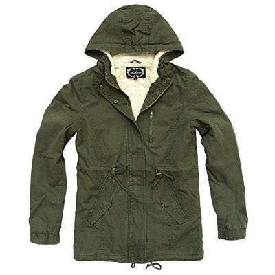 Ambiance Military Army Sherpa Lining Jacket for Women