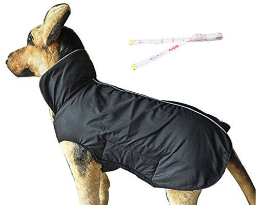 PetCee Dog Jacket,Waterproof Fleece Lined Reflective Jacket Dog Loft Jacket Dog Climate Changer Fle