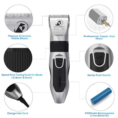 Dog Grooming Clippers - Cordless Quiet Pet Hair Clippers Trimmer