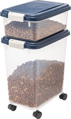 IRIS Airtight Pet Food Storage Container Combo