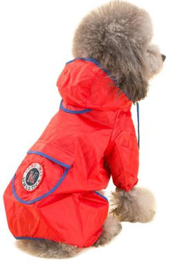 TOPSUNG Dog Raincoat Waterproof Puppy Jacket Pet Rainwear Clothes for Small Dogs-Cats