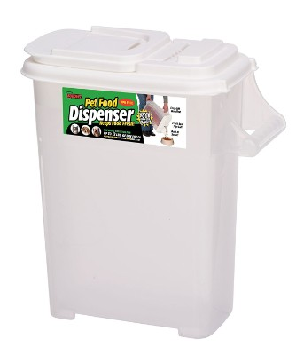 Medium (Up to 12lb) Fresh Dry Dog & Cat Food Plastic Storage Container