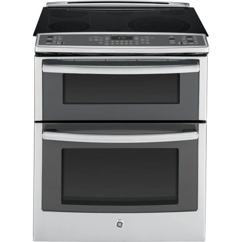 "GE PS950SFSS 30"" 6.6 cu. ft. Capacity Slide-In Double Oven"