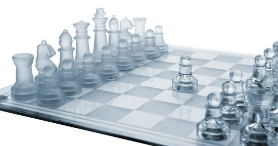 GamieTM Glass Chess Sets