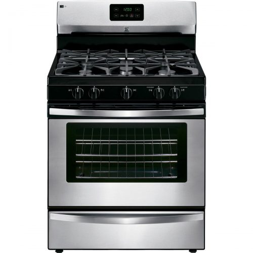Kenmore 73433 4.2 cu. ft. Freestanding Gas Range in Stainless Steel-Slide-in Gas Ranges