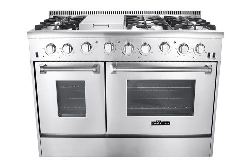 Thor Kitchen Gas Range with 6 Burners and Double Ovens