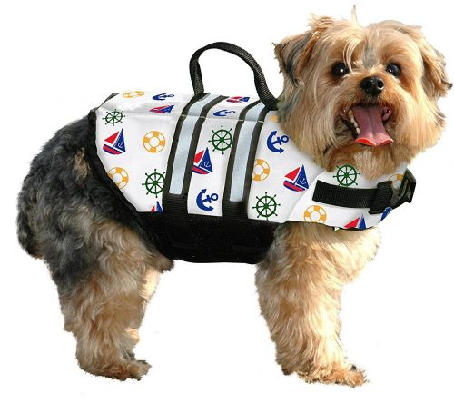Paws Aboard Small Designer Doggy Life Jacket Nautical 15