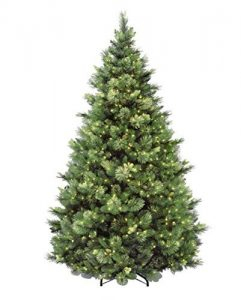 National Tree 7.5 Foot Carolina Pine Tree with Flocked