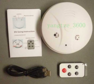 4GB Smoke Detector Hidden Spy Camera DVR with motion detection