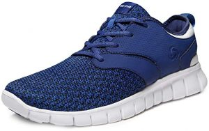 Tesla Men's Knit Pattern Sports Running Shoes
