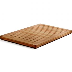 Bamboo Bath Mat Shower Floor Mat Non Slip